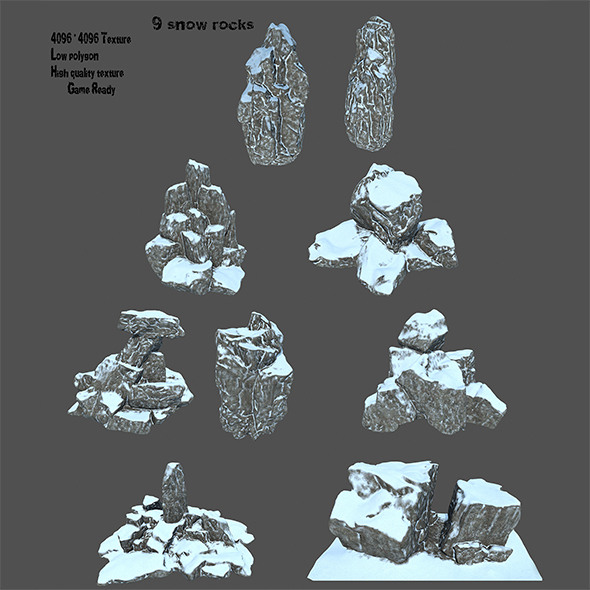 snow rocks - 3DOcean Item for Sale