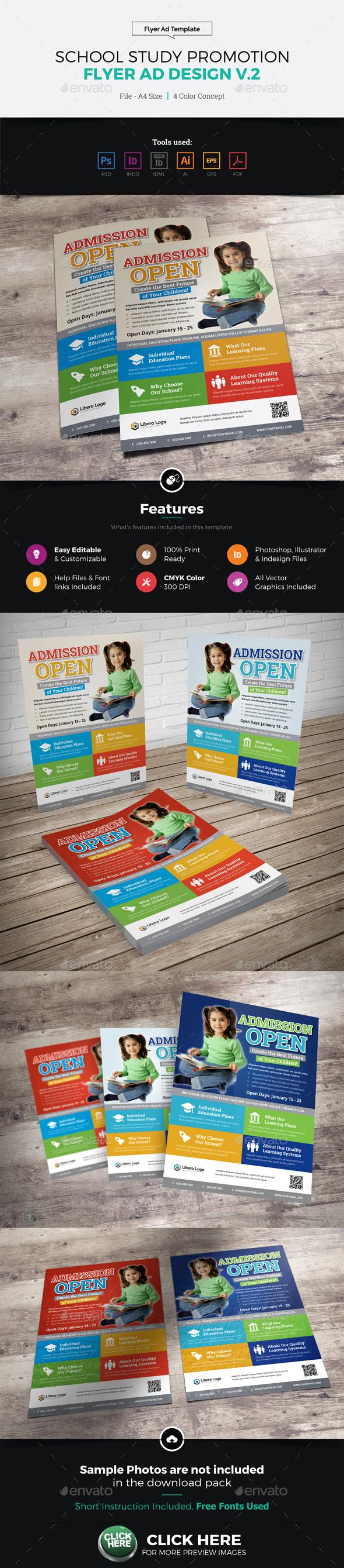 School Study Promotion Flyer Ad v2 - Corporate Flyers