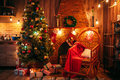 Christmas tree in the room with holiday decoration - PhotoDune Item for Sale