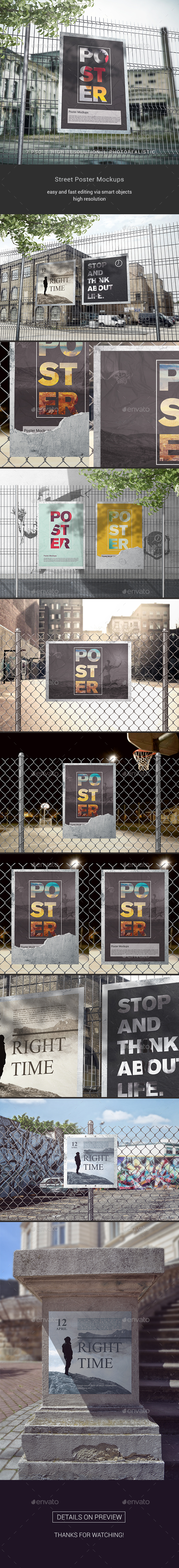 Street Poster Mockups - Posters Print