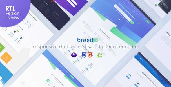 Breed Hosting - WHMCS & HTML Responsive Domain & Web Hosting Template