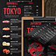 Japanese Single Page A4 & US Letter Food Menu - GraphicRiver Item for Sale