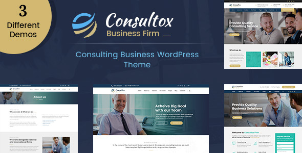 Consultox - Consulting Business WordPress Theme - Business Corporate