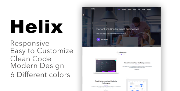 Helix - Responsive Bootstrap 4 Landing Page Template