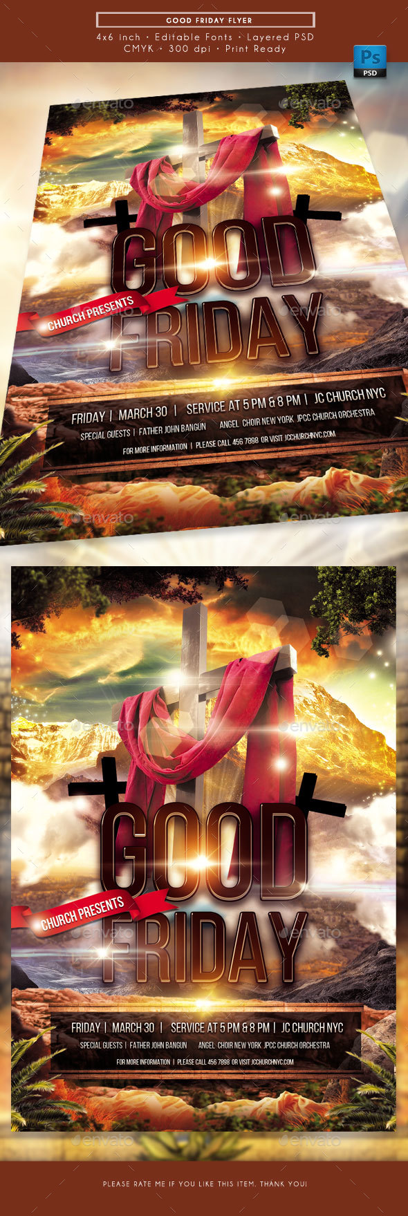 Good Friday Church Flyer - Church Flyers
