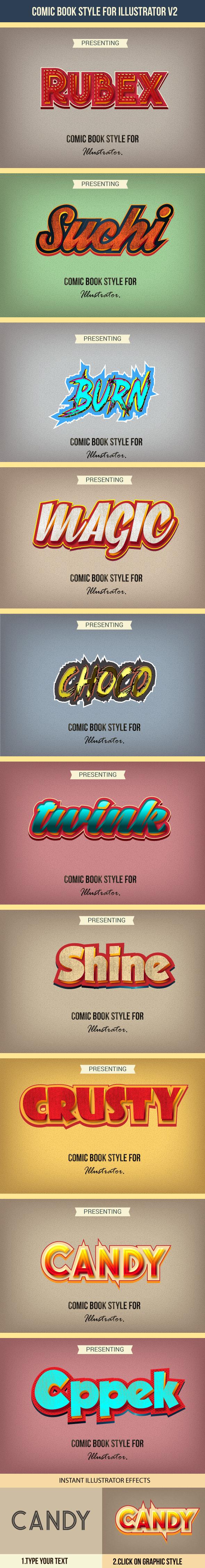 Comic Graphics Style - Styles Illustrator