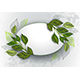 Oval Banner with Tea Leaves - GraphicRiver Item for Sale
