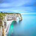Etretat, Manneporte natural rock arch and its beach. Normandy, F - PhotoDune Item for Sale