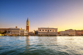 Venice landmark at dawn, Piazza San Marco with Campanile and Dog - PhotoDune Item for Sale