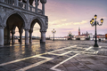 Venice landmark at dawn, Piazza San Marco, Doge Palace and San G - PhotoDune Item for Sale