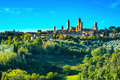 San Gimignano medieval town towers skyline and landscape. Tuscan - PhotoDune Item for Sale