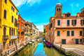 Venice cityscape, water canal, campanile church and traditional - PhotoDune Item for Sale