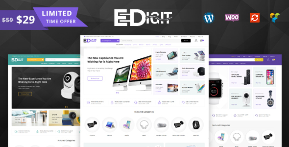 Image of eDigit - Multipurpose WooCommerce Theme