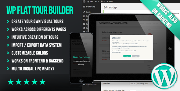 WP Flat Tour Builder - CodeCanyon Item for Sale