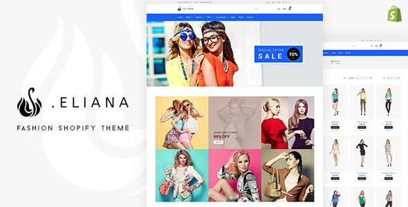 Eliana - Girls Fashion & Accessories Store Shopify Theme