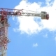 Tower Crane on the Background of Blue Sky - VideoHive Item for Sale