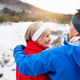 Senior couple jogging in winter nature. - PhotoDune Item for Sale