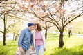 Beautiful senior couple in love outside in spring nature. - PhotoDune Item for Sale