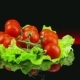 Tomatoes Are on a Salad Leaf and Round - VideoHive Item for Sale
