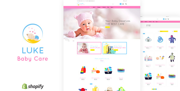 Luke - Infants & Baby Care Store Shopify Theme