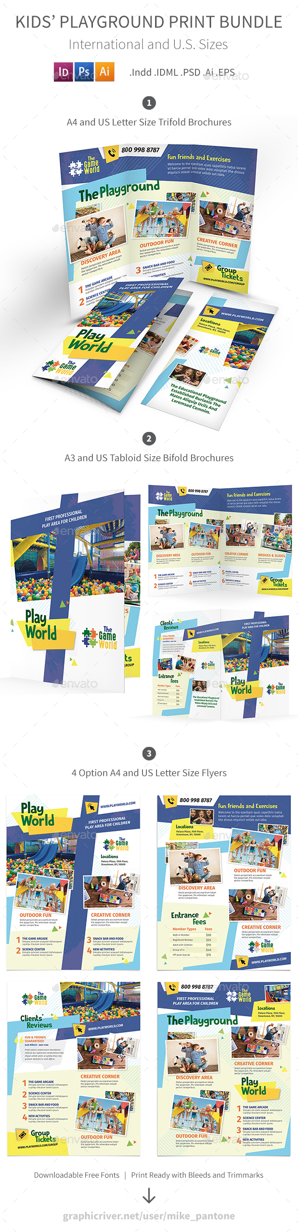 Kids' Playground Print Bundle - Informational Brochures
