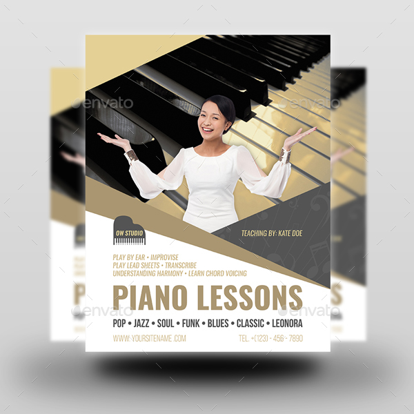 Piano Lessons Flyer Template
