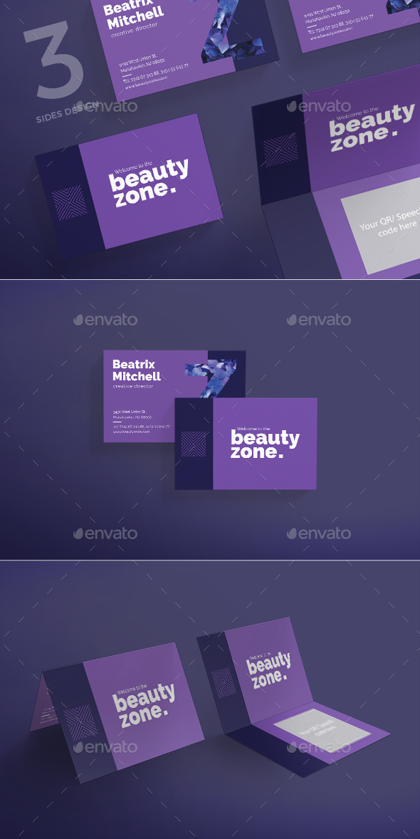 Beauty Zone Business Card - Corporate Business Cards