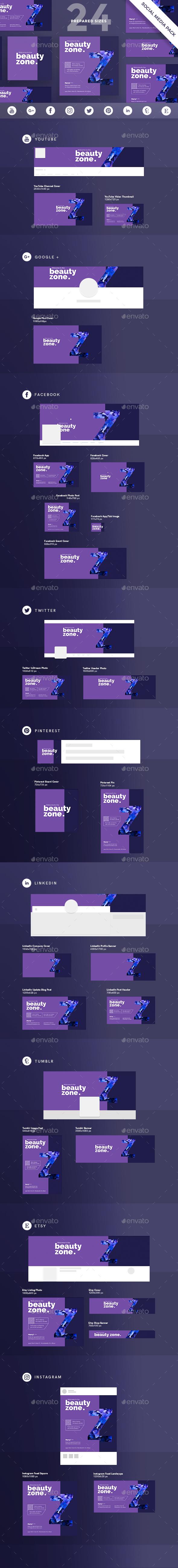 Beauty Zone Social Media Pack - Miscellaneous Social Media