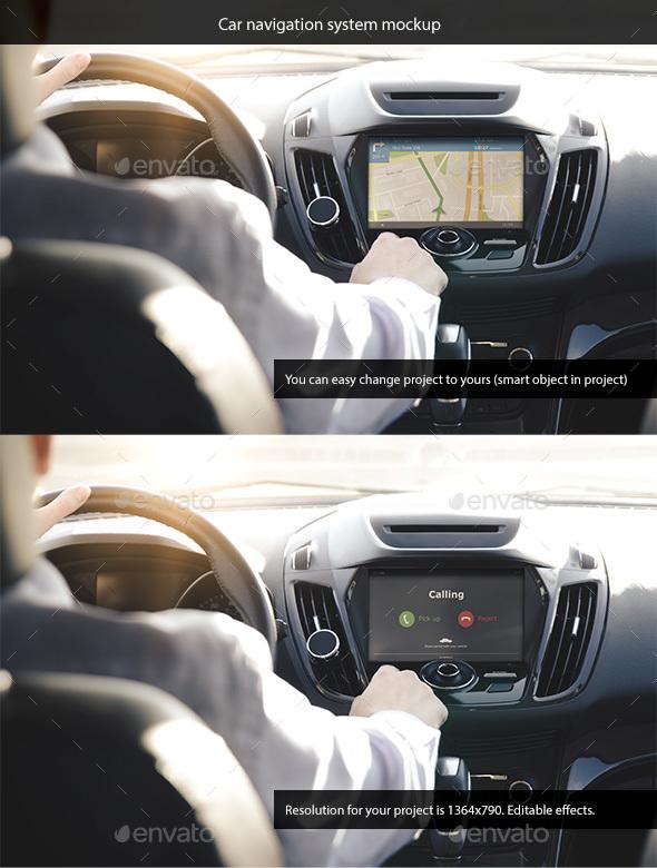 Car Navigation System Mockup - Miscellaneous Displays