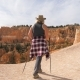 Woman Hiking On A Scenic Footpath Trail In Bryce Canyon Park - VideoHive Item for Sale