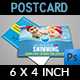 Swimming Postcard Template