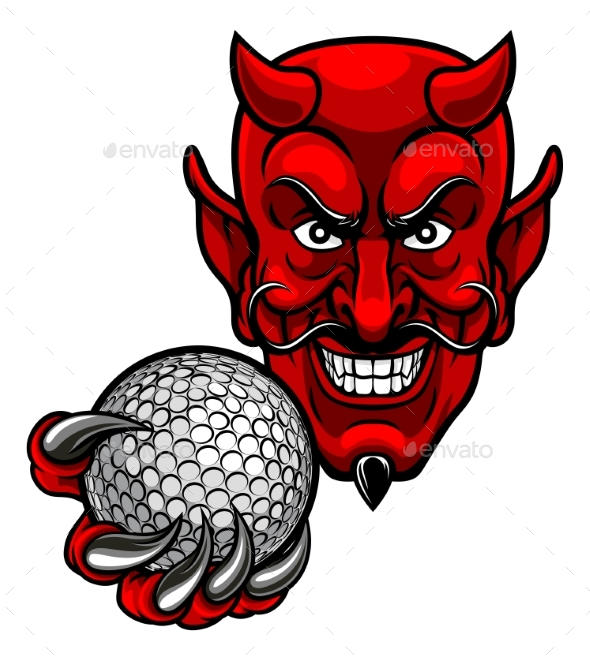 Devil Golf Sports Mascot - Sports/Activity Conceptual