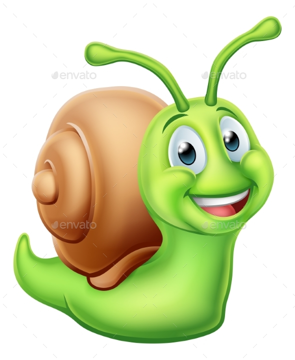 Snail Cartoon Character - Animals Characters