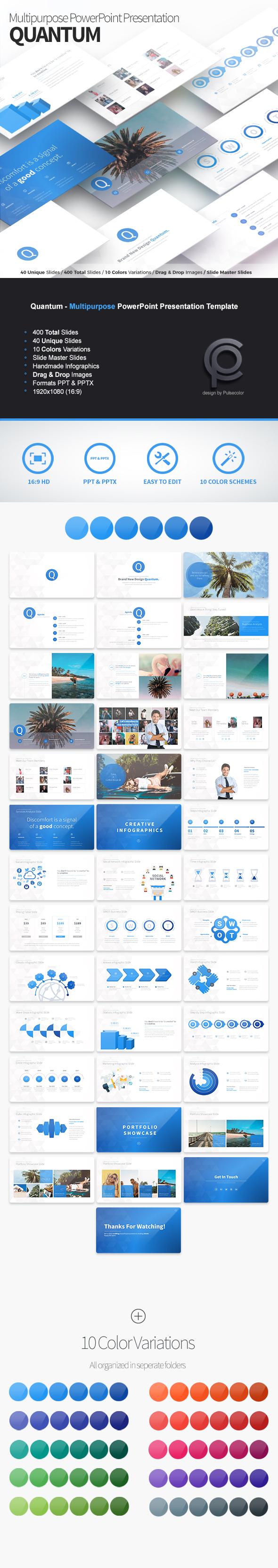 Quantum - Multipurpose PowerPoint Presentation - Business PowerPoint Templates