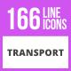 166 Transport Line Icons