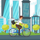 Businessman Riding Bike - GraphicRiver Item for Sale