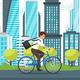Businessman Riding Bike
