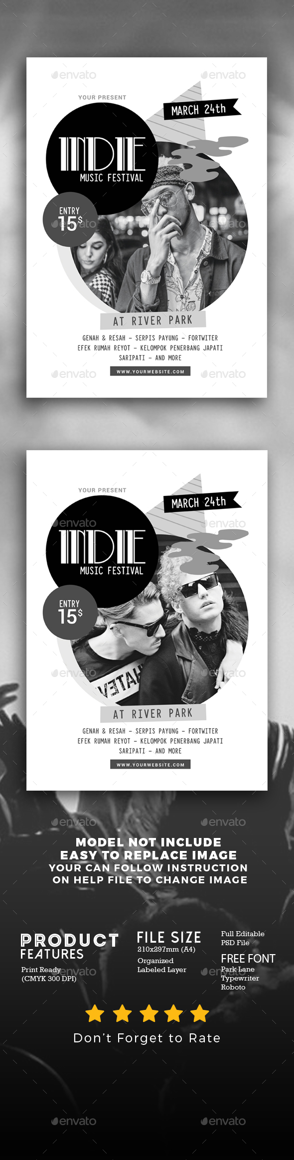 Abstract Indie Music Flyer - Events Flyers