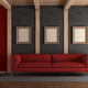 Red and gray elegant living room - PhotoDune Item for Sale