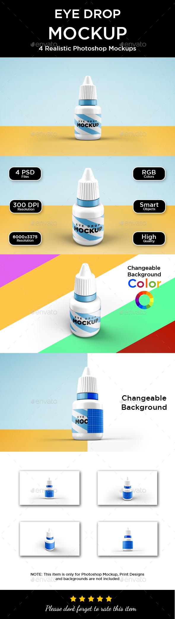 Eye Drop Bottle Mockup - Miscellaneous Packaging