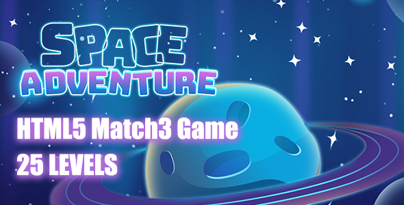 Space Adventures HTML5 Game [ 25 levels ] - CodeCanyon Item for Sale