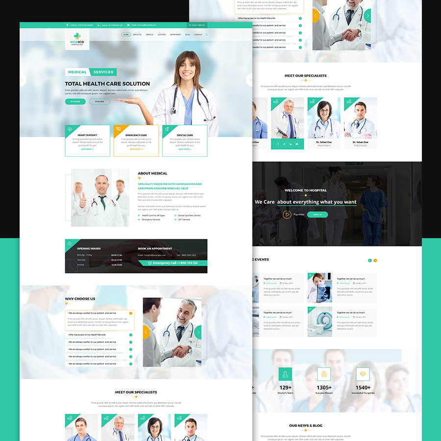Imedico Hospital And Health Html Template By Uiuxdesigns Themeforest