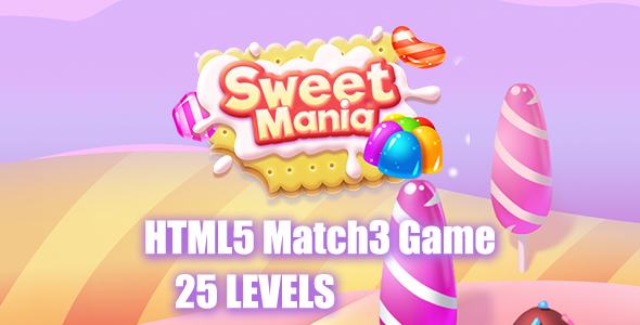 Sweet Mania HTML5 Game [ 25 levels ] - CodeCanyon Item for Sale