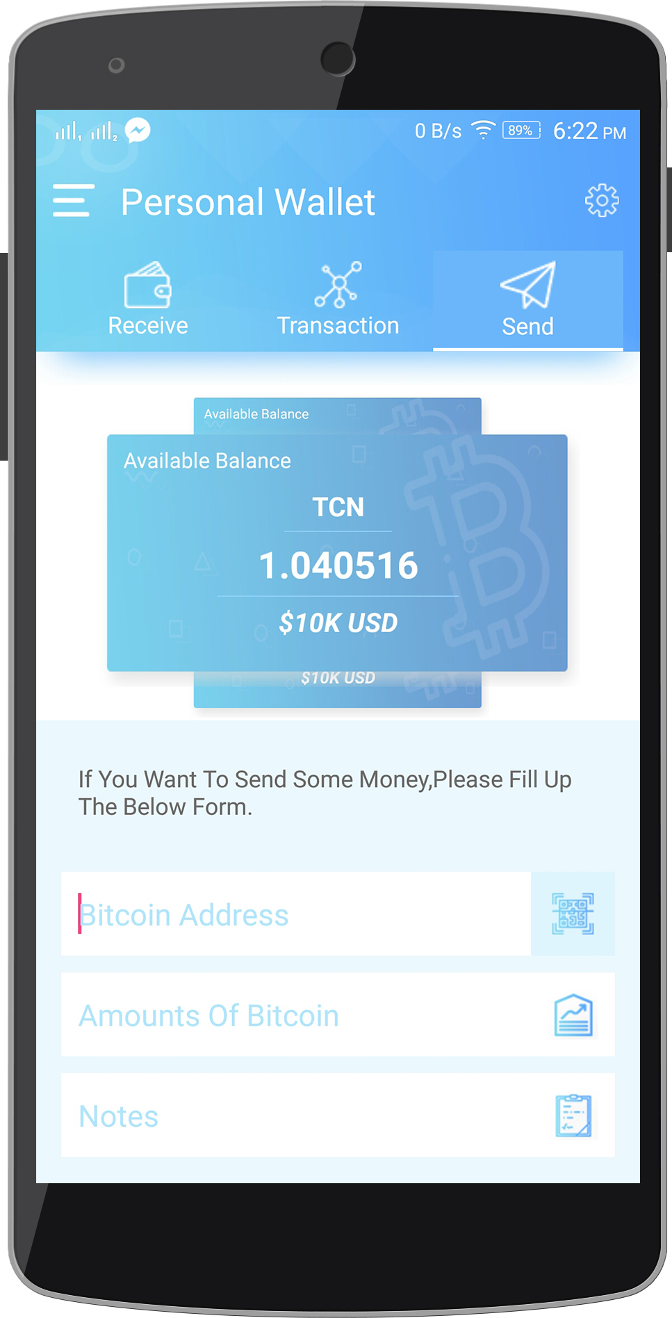 Coinwallet Android Cryptocurrency Wallet Template By Itechtheme