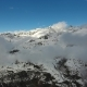 Flying Through Clouds Between Mountains - VideoHive Item for Sale