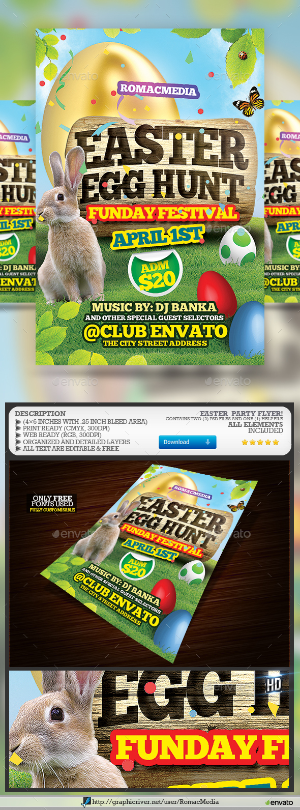 Easter Festival Flyer - Clubs & Parties Events