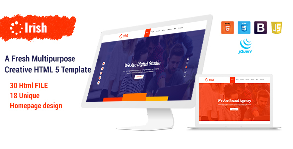Image of Irish - A Fresh Multipurpose Creative HTML5 Template