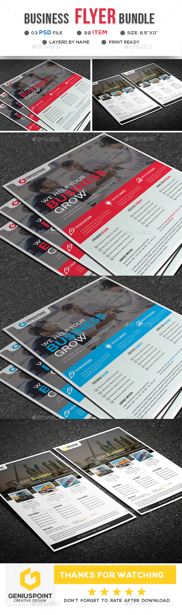 Business Flyer Bundle - Flyers Print Templates