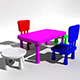 Kids Chair Table - 3DOcean Item for Sale