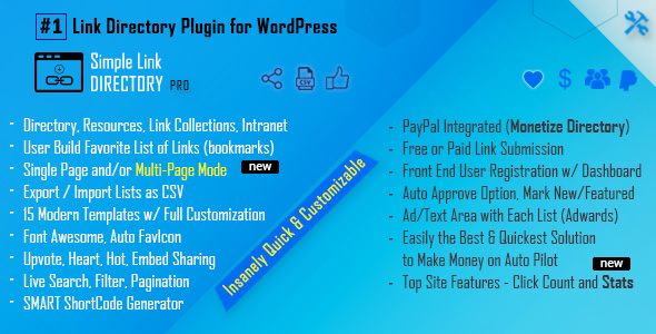 Simple Link Directory Pro - CodeCanyon Item for Sale